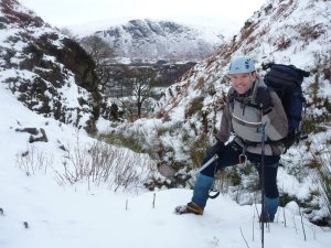 Mark in Greathall Gill with Buckbarrow behind
