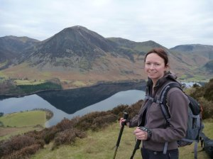 Penny with Crummock Water and the North Western Fells behind