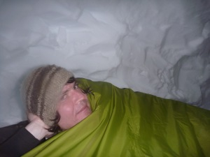 Mark in the snowhole